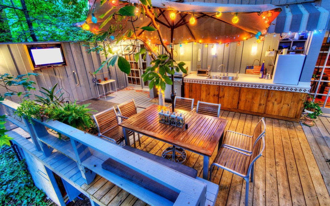 update outdoor living spaces with deck lighting